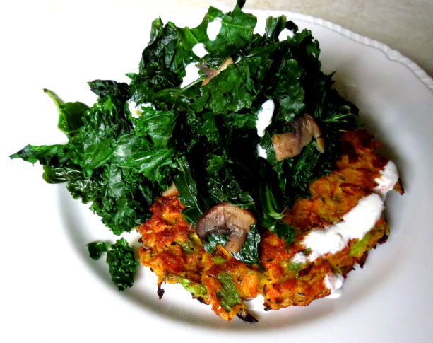Carrot Pancake with Feta Cream -3