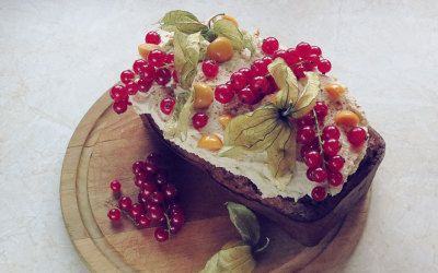 Spiced Winter Cake with Cashew Frosting