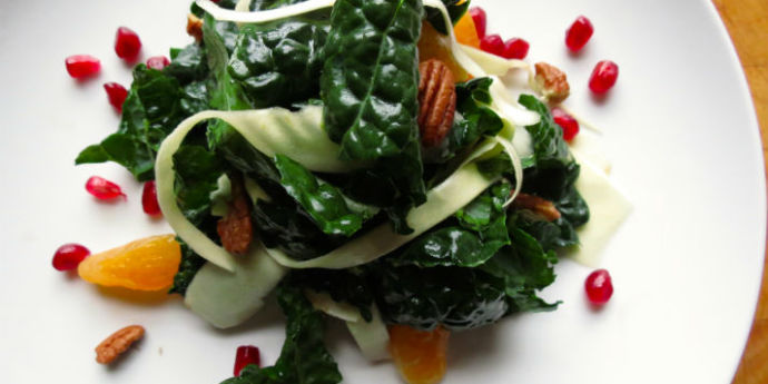Kale and Parsnip Salad in Maple Sesame Dressing I http://marcicornett.com/