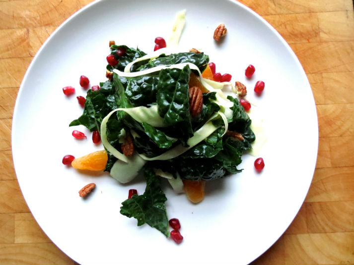 Kale and Parsnip Salad in Maple Sesame Dressing -2