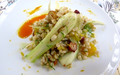 Barley and Fennel Salad with Reduced Clementine Vinaigrette-2
