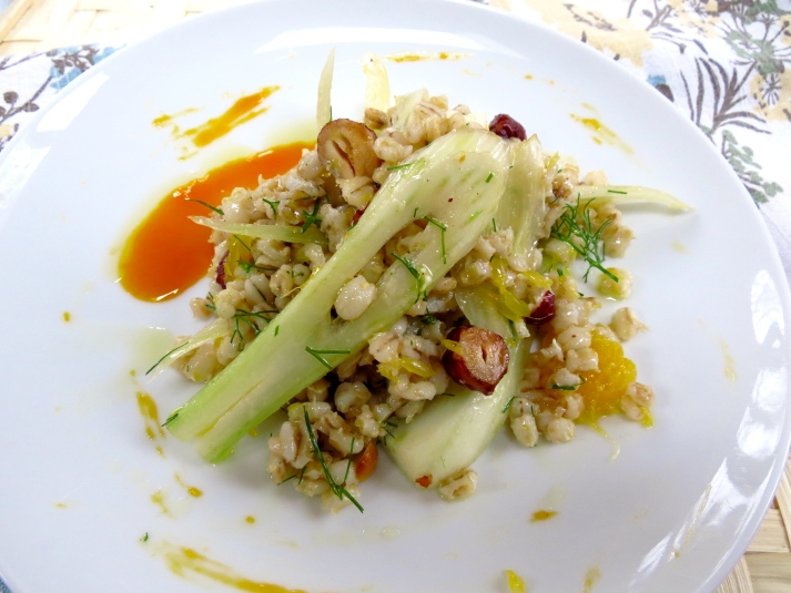 Barley and Fennel Salad with Reduced Clementine Vinaigrette