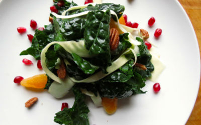 Recipe: Kale and Parsnip Salad in Maple Sesame Dressing