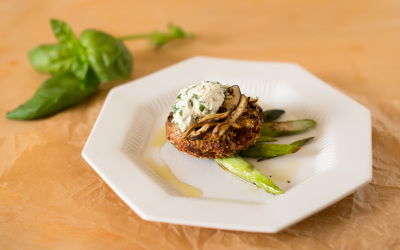 Cook the Farmer's Market: Savory Sweet Potato Cakes